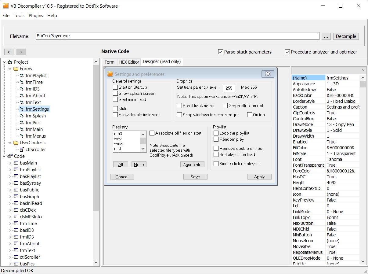 Vb Decompiler 105 - GUI Designer and in-depth optimization